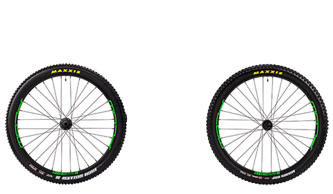 Stage 6 Wheelset Stans Flow Mk3 Black Hubs Green Rims