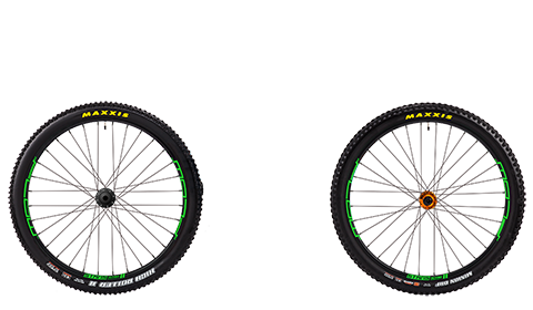 Stage 6 Wheelset Stans Flow Mk3 Orange Hubs Green Rims