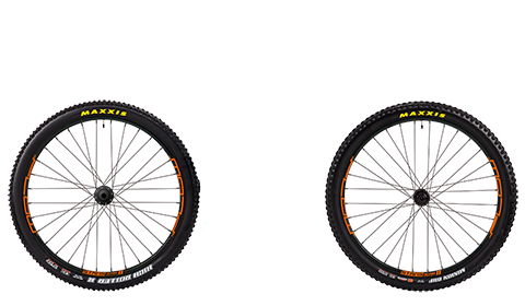 Stage 6 Wheelset Stans Flow Mk3 Black Hubs Orange Rims