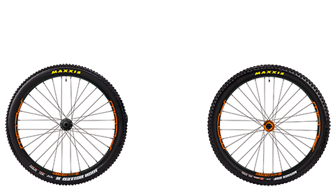 Stage 6 Wheelset Stans Flow Mk3 Orange Hubs Orange Rims