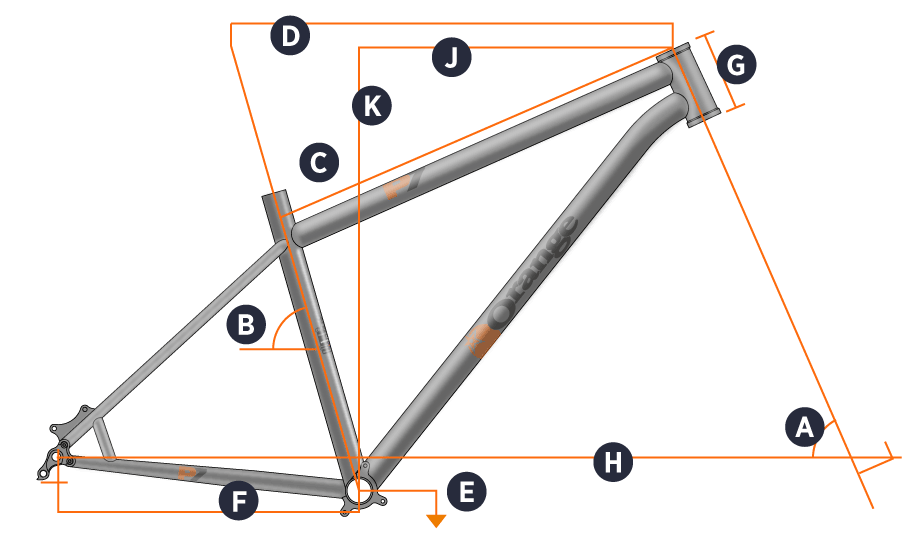 Orange 2017 P7 Frame Geometry