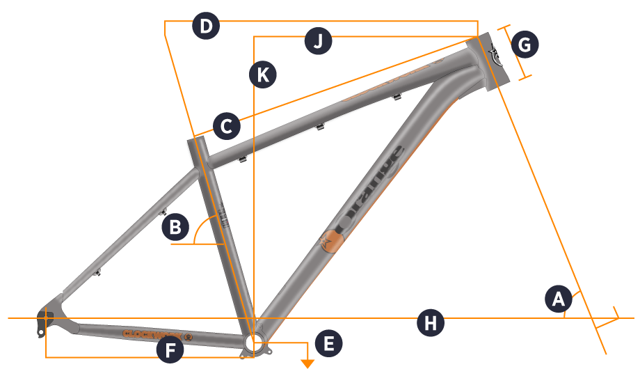Orange 2017 Clockwork EVO Frame Geometry