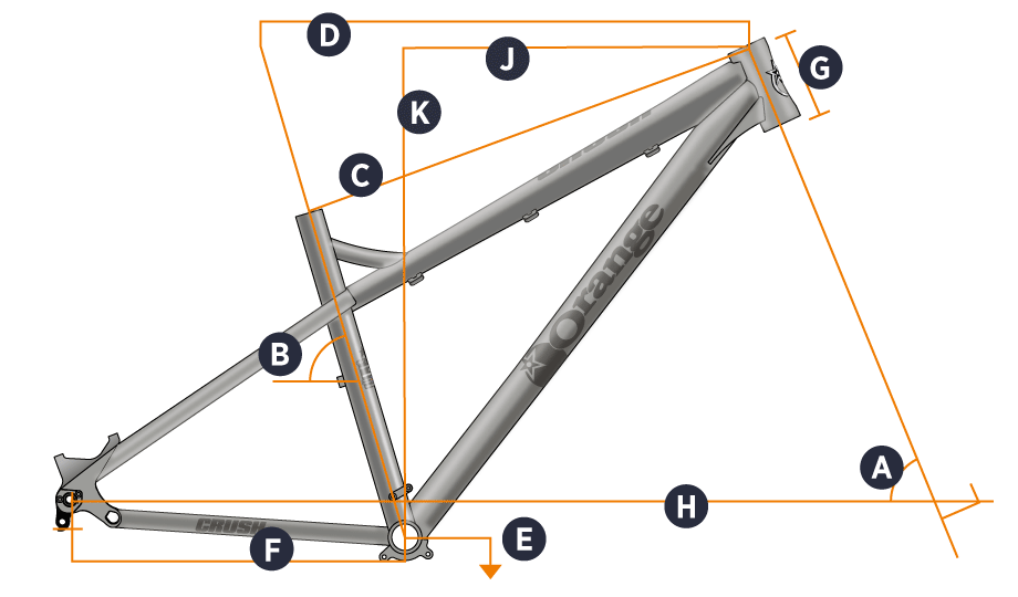 Orange 2017 Crush Frame Geometry