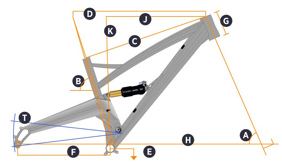 Orange Five 2017 Frame 27.5 (Including rear shock)