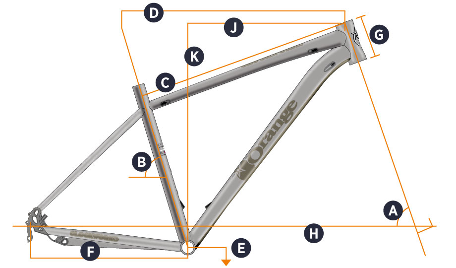 Orange 2017 Clockwork 100 Frame Geometry