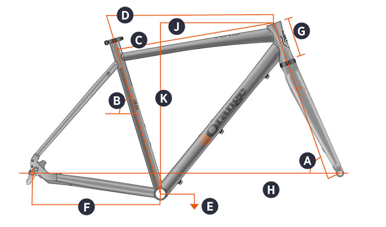 Orange 2018 RX9 Frame Geometry