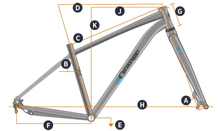 Orange 2018 Speedwork Frame Geometry