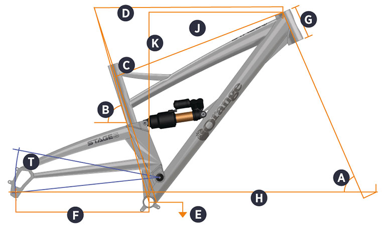 Orange 2017 Stage 6 Frame Geometry