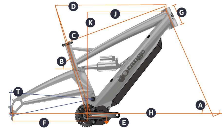 Orange 2018 Alpine 6 E Frame Geometry