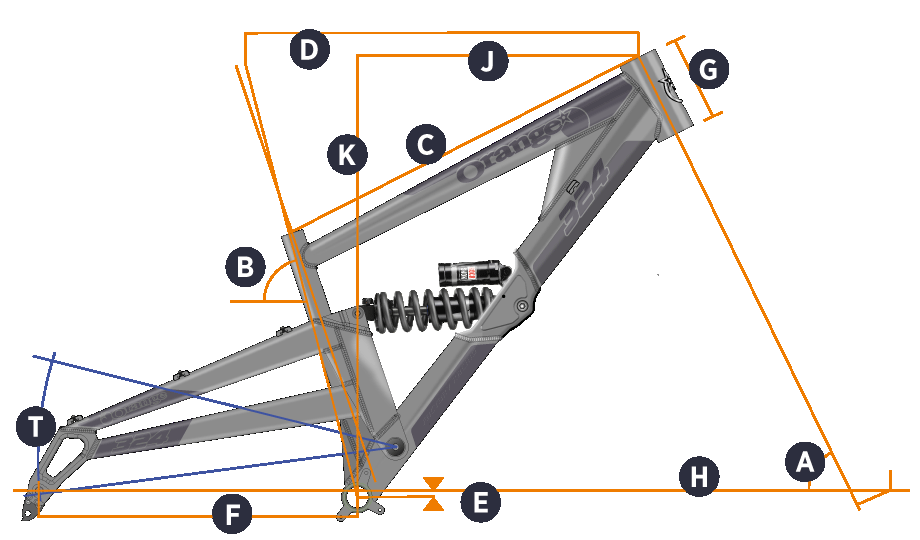 Orange 2018 324 Frame Geometry
