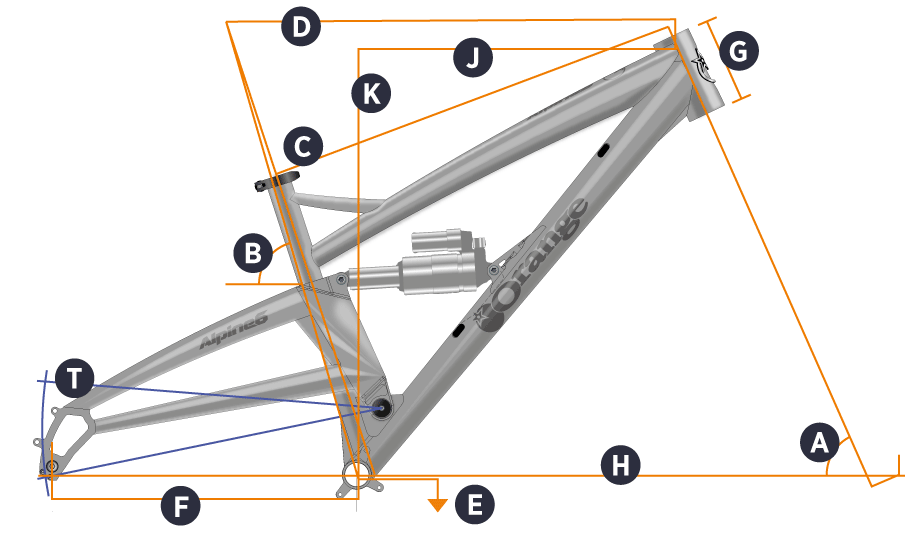 Orange 2018 Alpine Frame Geometry