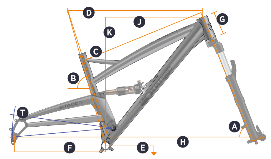 Orange 2018 Stage 4 Frame Geometry