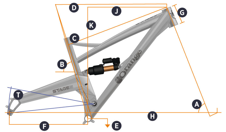 Orange 2018 Stage 5 Frame Geometry