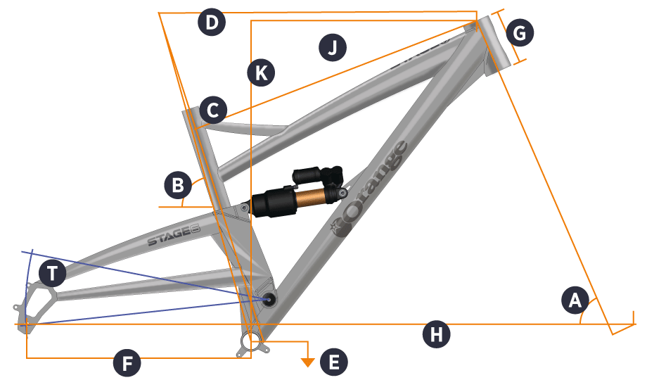 Orange 2018 Stage 6 Frame Geometry