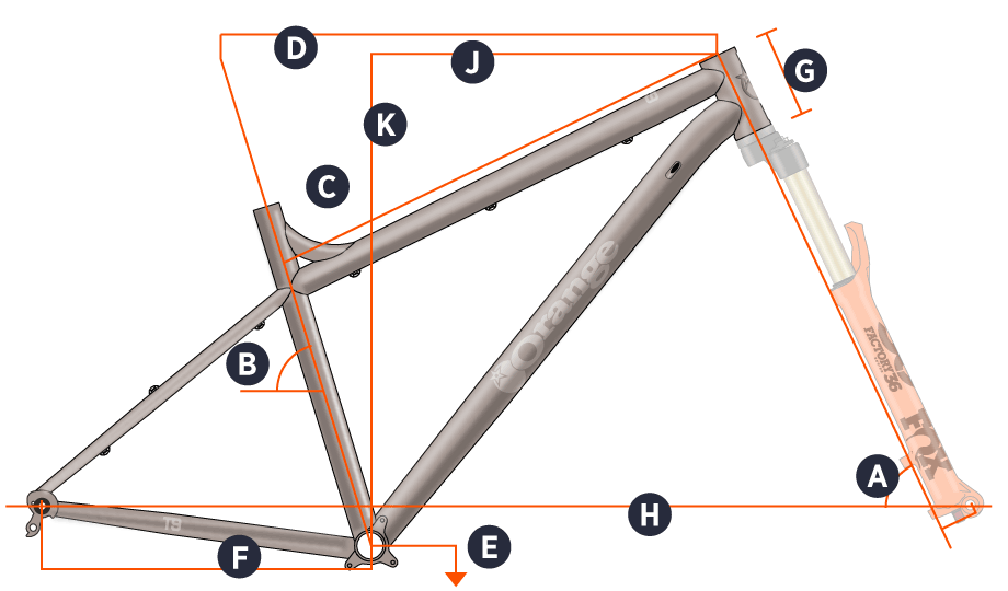 Orange 2018 T9 Frame Geometry