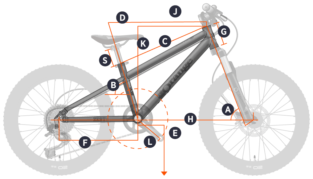 Orange 2020 Zest 20 Frame Geometry