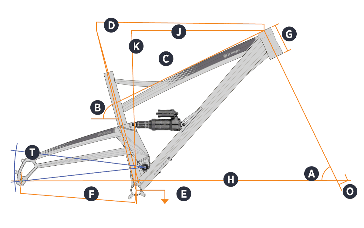 Orange 2021 Five Evo Frame Geometry