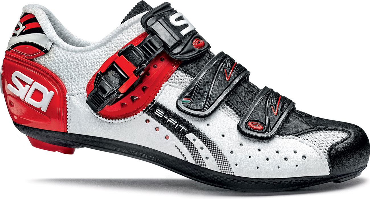 sidi genius 5 fit carbon road cycling shoes white black