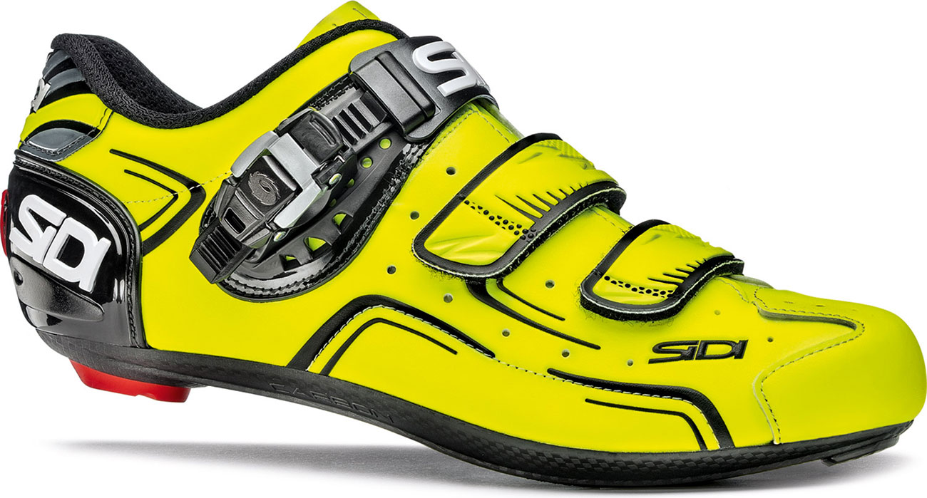 Sidi Level Road Cycling Shoes Yellow Fluo Black