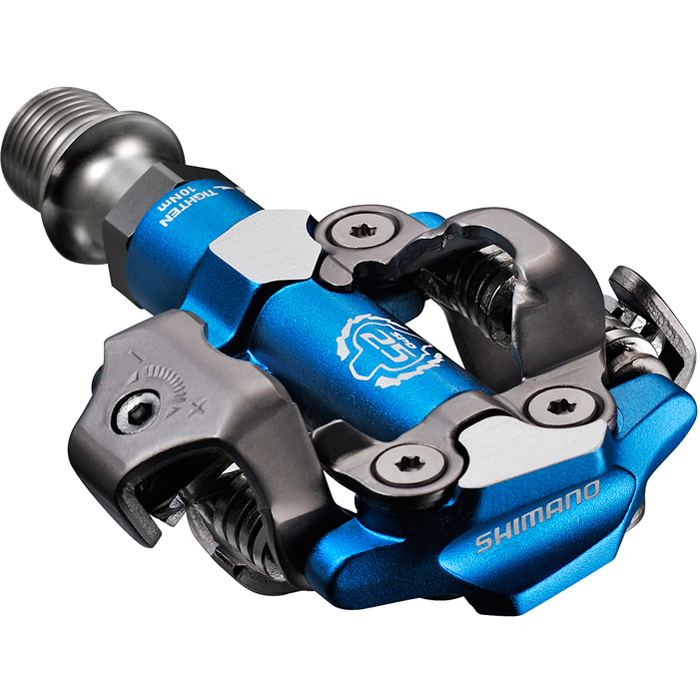 Shimano M990 Xtr Mtb Spd Xc Race Pedals Blue 2 Sided