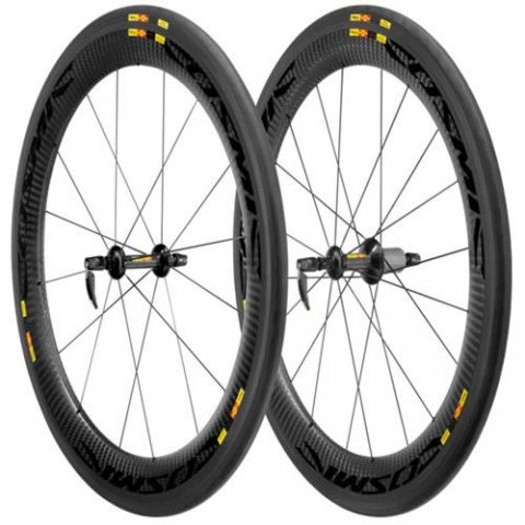 Mavic Cosmic Carbone 60 Clincher Road Wheelset inc Tyres
