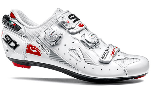 Sidi Ergo 4 Carbon Composite Road Cycling Shoes (White)