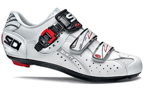 Sidi Genius 5-Fit Carbon Road Cycling Shoes (White)