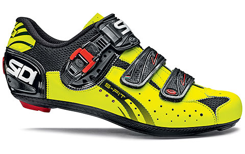 Sidi Genius 5-Fit Carbon Road Cycling Shoes (Black/Yellow Fluo)