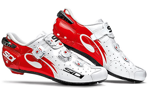 Sidi Wire Carbon Vernice Road Cycling Shoes (White/Red)