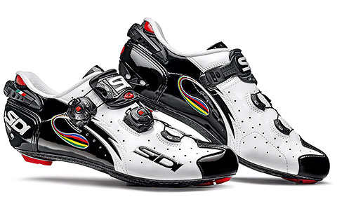 Sidi Wire Carbon Vernice Road Cycling Shoes (White/Black/Iride)