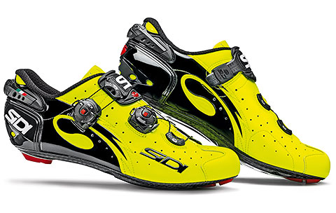 Sidi Wire Carbon Vernice Road Cycling Shoes (Yellow Fluo/Black)