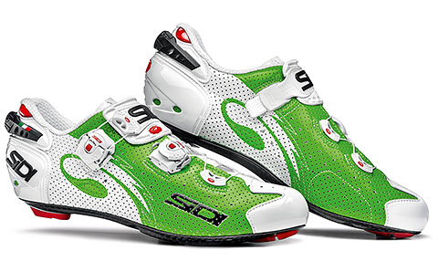Sidi Wire Carbon Air Road Cycling Shoes (Green/White)