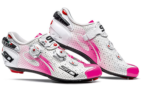 Sidi Wire Carbon Air Women's Cycling Shoes (White/Pink Fluo)