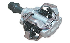 Shimano M540 MTB SPD Pedals Silver (2-Sided Mechanism)