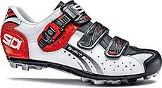 Sidi MTB Eagle 5-Fit Cycling Shoes (White/Black/Red)