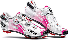 Sidi MTB Drako Women's Cycling Shoes (White/Pink Fluo)