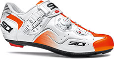Sidi Kaos Road Cycling Shoes (White/Orange Fluo)