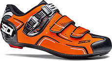 Sidi Level Road Cycling Shoes (Orange Fluo/Black)