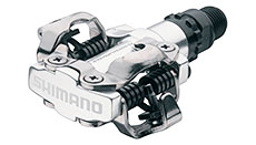 Shimano M520 MTB SPD Pedals Silver (2-Sided Mechanism)