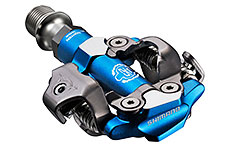 Shimano M990 XTR MTB SPD XC Race Pedals Blue (2-Sided Mechanism)