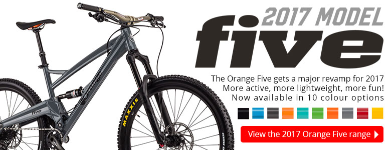 The Orange Five gets a major revamp for 2017. More active, more lightweight, more fun!
